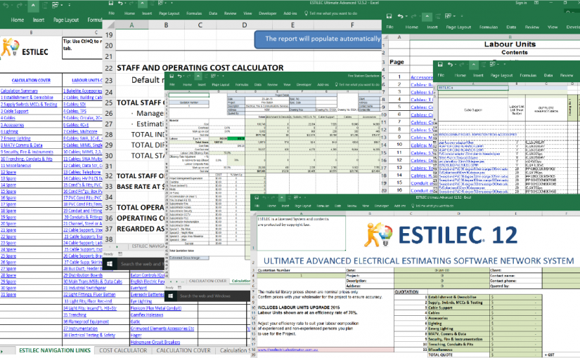 WHAT IS THE INCONVENIENT TRUTH ABOUT EXCEL ELECTRICAL ESTIMATING SOFTWARE?